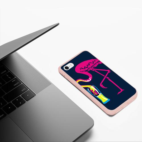 Чехол для iPhone 6/6S матовый Кислотный фламинго Фото 01