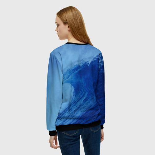 Женский свитшот 3D Вода: водород. Парные футболки Фото 01