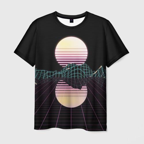 Мужская футболка 3D  Фото 03, Retro Wave