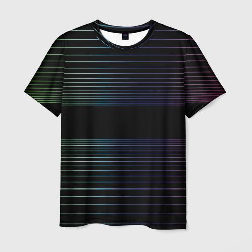 Мужская футболка 3D Полоски