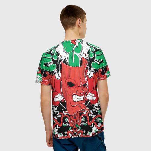 Мужская футболка 3D  Фото 02, Маска зомби