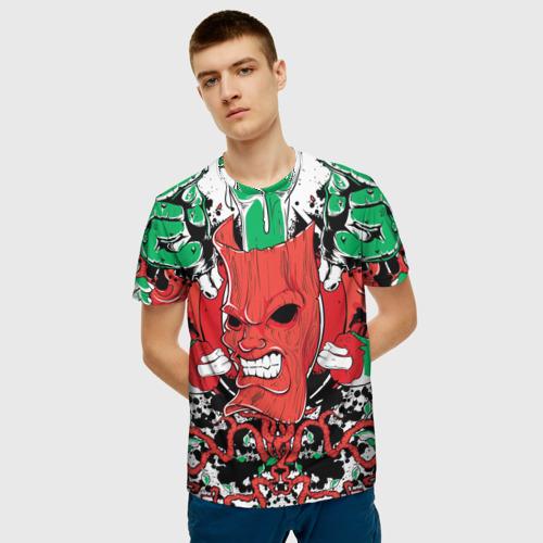 Мужская футболка 3D  Фото 03, Маска зомби