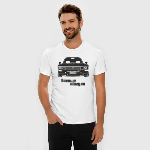Мужская футболка премиум  Фото 03, Боевые жигули (Ваз 2106)