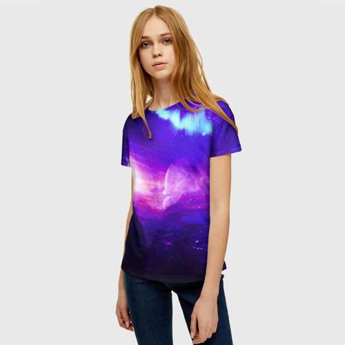 Женская футболка 3D Космическое сияние Фото 01