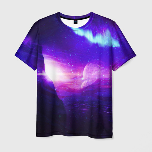 Мужская футболка 3D Космическое сияние
