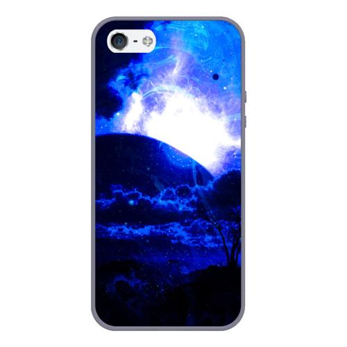 Чехол для iPhone 5/5S матовый Космический закат Фото 01
