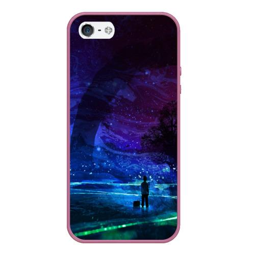 Чехол для iPhone 5/5S матовый Парень и космос Фото 01