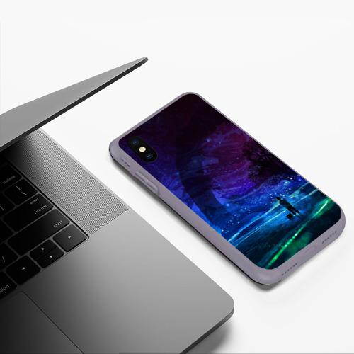 Чехол для iPhone XS Max матовый Парень и космос Фото 01