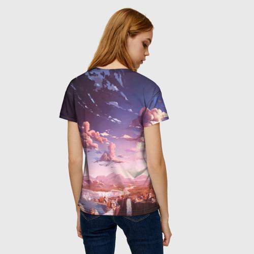 Женская футболка 3D Фантастический закат Фото 01