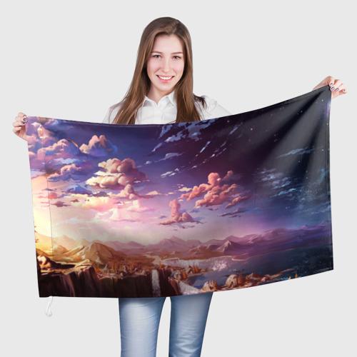 Флаг 3D Фантастический закат Фото 01