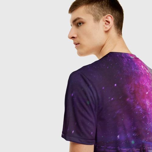 Мужская футболка 3D Северный закат Фото 01