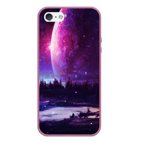 Чехол для iPhone 5/5S матовый Северный закат Фото 01