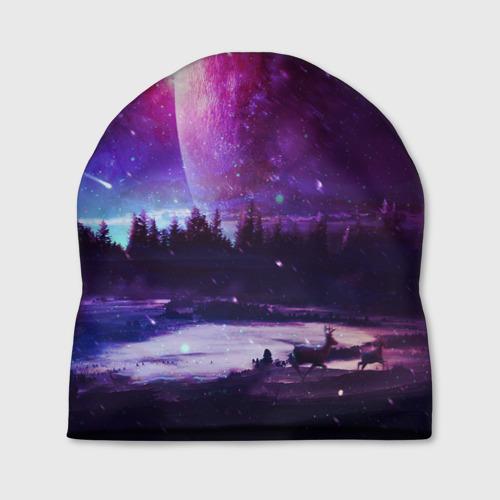 Шапка 3D Северный закат