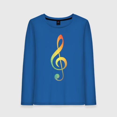 Скрипичный ключ, цветной.