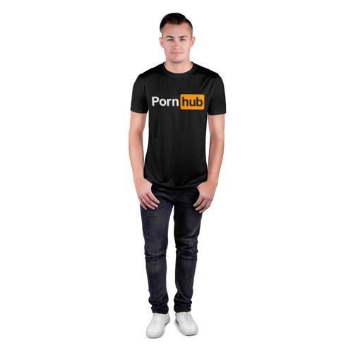Мужская футболка 3D спортивная PORNOHUB | ПОРНХАБ Фото 01