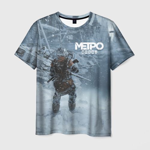 Мужская футболка 3D Метро Исход Фото 01