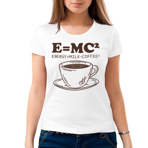 Женская футболка хлопок ENERGY = Milk and Coffee 2 Фото 01