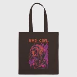 Красная девушка