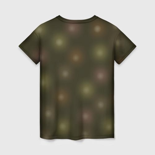 Женская футболка 3D Лисёнок и гирлянда