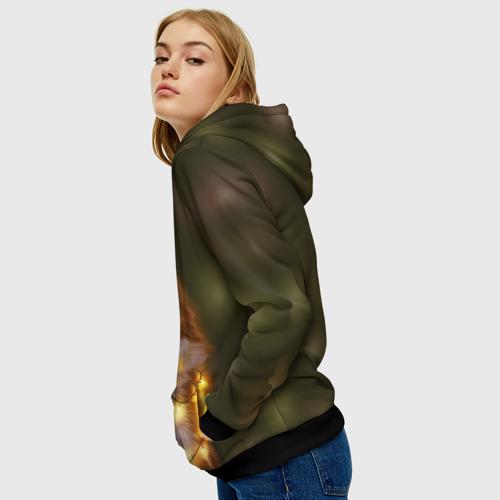 Женская толстовка 3D Лисёнок и гирлянда  Фото 01