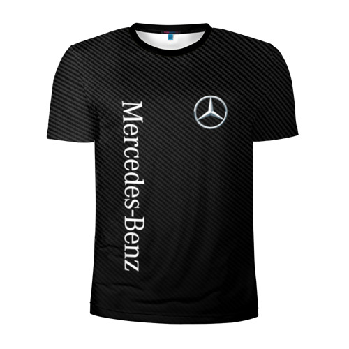 Мужская футболка 3D спортивная MERCEDES BENZ CARBON Фото 01