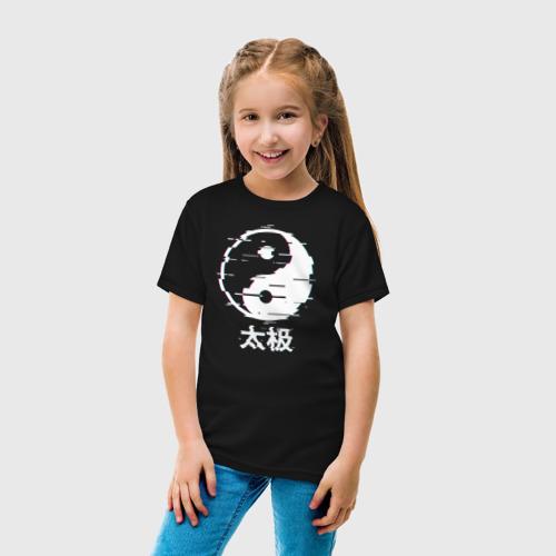Детская футболка хлопок инь ян глитч Фото 01