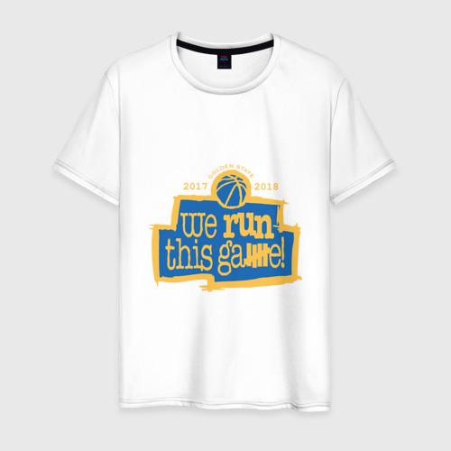 Мужская футболка хлопок Golden State Run This Game