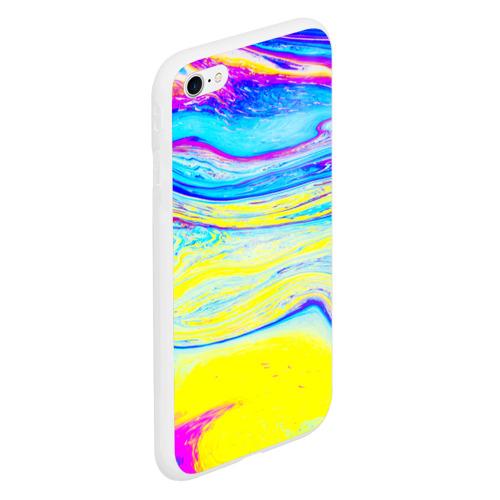 Чехол для iPhone 6/6S матовый Разводы красок Фото 01
