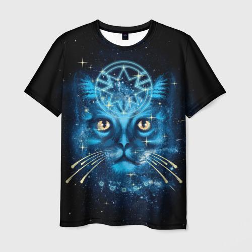 Мужская футболка 3D Кот Гусь