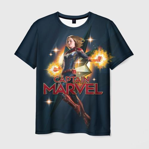 Мужская футболка 3D Капитан Марвел