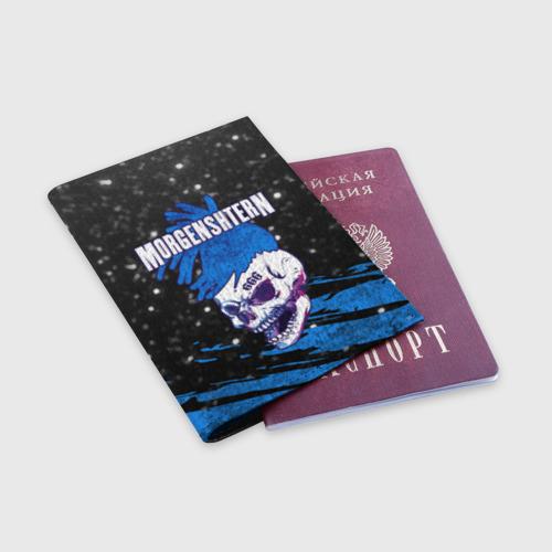 Обложка для паспорта матовая кожа MORGENSHTERN Фото 01