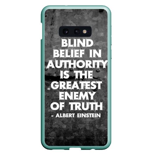 Чехол для Samsung S10E Альберт Эйнштейн Цитата Фото 01