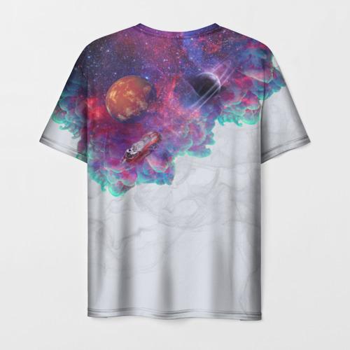 Мужская футболка 3D Илон Маск курит космос Фото 01