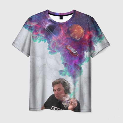Илон Маск курит космос, цвет: белый, фото 0