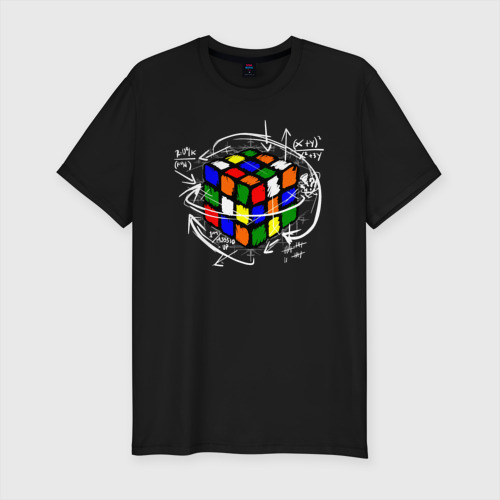 Мужская футболка премиум Кубик Рубика