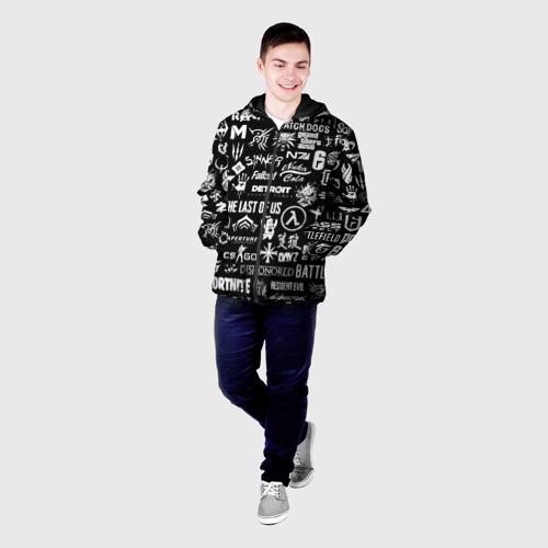 Мужская куртка 3D ЛОГОТИПЫ ИГР  Фото 01