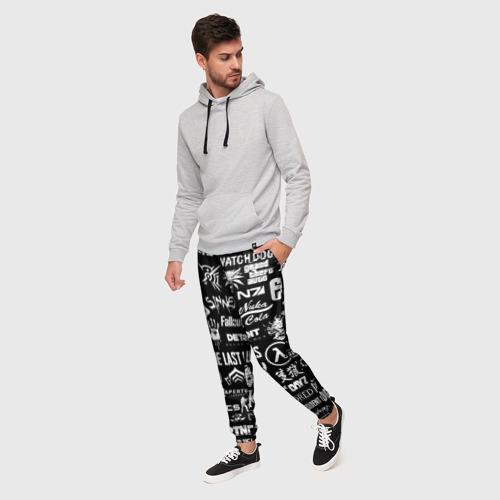 Мужские брюки 3D ЛОГОТИПЫ ИГР  Фото 01