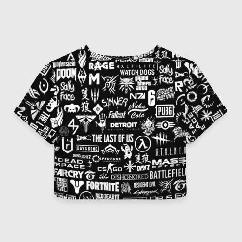 Женская футболка Cropp-top ЛОГОТИПЫ ИГР  Фото 01