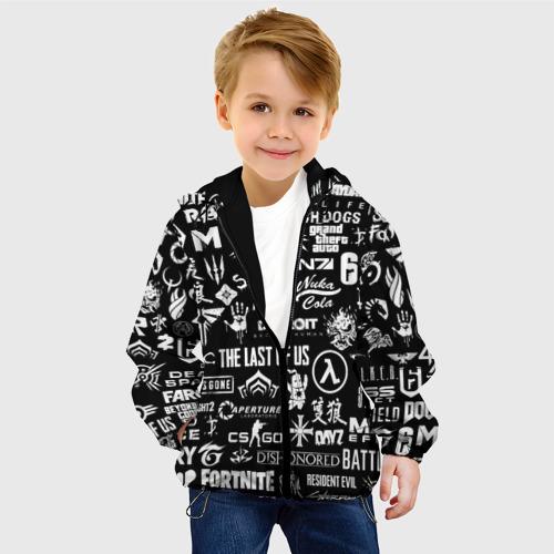 Детская куртка 3D ЛОГОТИПЫ ИГР  Фото 01