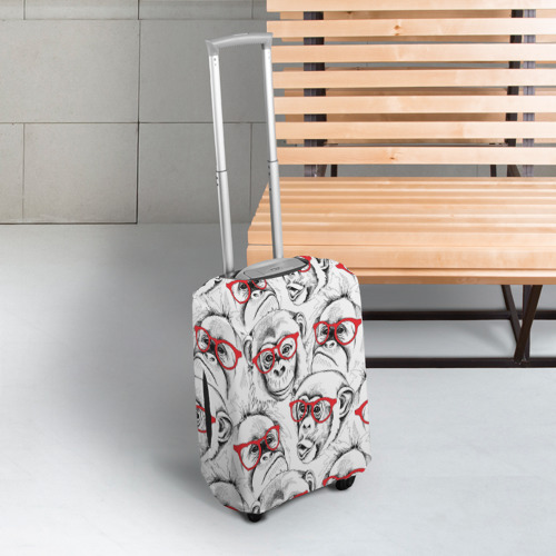Чехол для чемодана 3D Обезьяны Фото 01