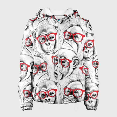 Женская куртка 3D Обезьяны Фото 01
