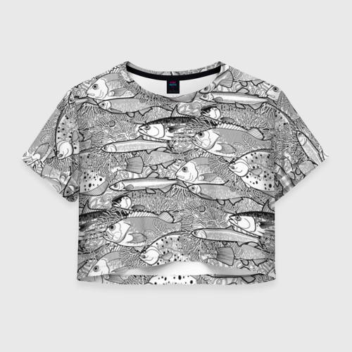 Женская футболка Cropp-top Рыбы Фото 01