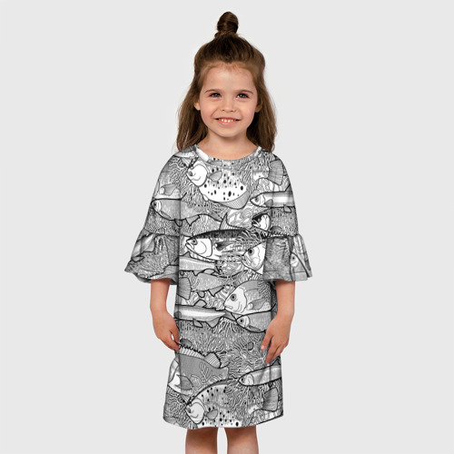 Детское платье 3D Рыбы Фото 01