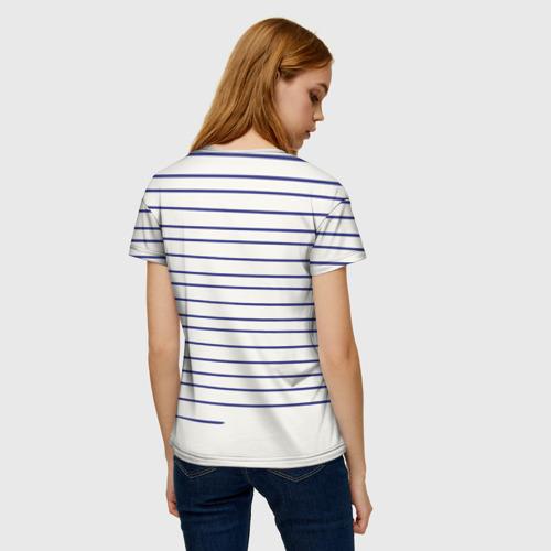 Женская футболка 3D Муми-тролль рисует полосы Фото 01