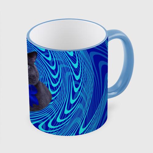Кружка с полной запечаткой Гипнотический кот