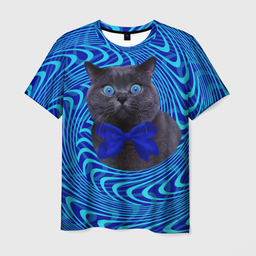 Мужская футболка 3D  Фото 03, Гипнотический кот