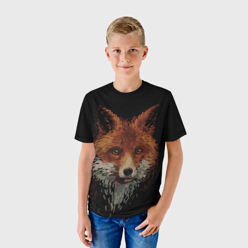 Детская футболка 3D  Фото 01, Лиса маслом