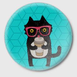 Котик с кофе