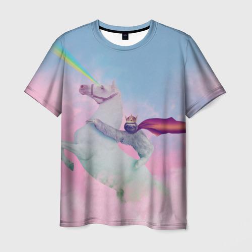 Мужская футболка 3D Ленивец предводитель