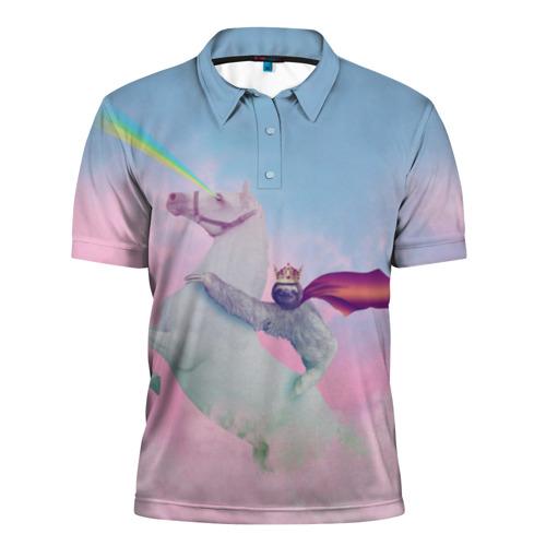 Мужская рубашка поло 3D  Фото 01, Ленивец предводитель